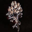 ราคาถูก สร้อยคอ-สำหรับผู้หญิง เข็มกลัด Flower สุภาพสตรี พลอยเทียม Opal เข็มกลัด เครื่องประดับ สีทอง สำหรับ ปาร์ตี้ ที่มา