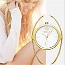 ราคาถูก วิกผมสังเคราะห์-สำหรับผู้หญิง นาฬิกาหรู นาฬิกาแฟชั่น นาฬิกาอิเล็กทรอนิกส์ (Quartz) ทอง ระบบอนาล็อก สุภาพสตรี เสน่ห์ ความหรูหรา - สีทอง ขาว