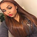 billige Stearinlysdesign-Ekte hår Helblonder uten lim Helblonde Parykk Rihanna stil Brasiliansk hår Rett Nyanse Parykk 130% Hair Tetthet med baby hår Ombre-hår Naturlig hårlinje Afroamerikansk parykk 100 % håndknyttet Dame