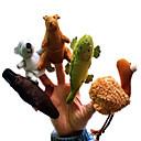 ราคาถูก หุ่นกระบอก-Finger Puppet แปลกใหม่ สิ่งทอ ฝ้าย 5 pcs Toy ของขวัญ