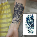 billiga tatuering klistermärken-1 pcs tillfälliga tatueringar Vattentät / 3D brachium / Bröst Papper Tatueringsklistermärken