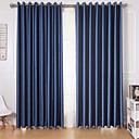 billiga Mörkläggningsgardiner-gardiner gardiner två paneler vardagsrum massiv färgad polyester / blackout