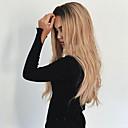 Χαμηλού Κόστους Κραγιόν-Συνθετικές Περούκες Κυματιστό Κυματιστό Περούκα Ξανθό Μακρύ Μαύρο / Φράουλα Ξανθιά Συνθετικά μαλλιά Γυναικεία Ανθεκτικό στη Ζέστη Μαλλιά με ανταύγειες Σκούρες ρίζες Ξανθό