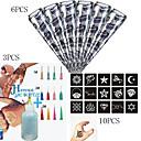 billiga Klusterdesign-1 pcs Hennatuber tillfälliga tatueringar Vattentät Body art Ansikte / händer / arm