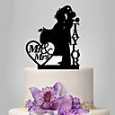 ราคาถูก ของตกแต่งหน้าเค้ก-อุปกรณ์แต่งหน้าเค้ก ธีมคลาสสิก คู่คลาสสิก อะคริลิค งานแต่งงาน วันครบรอบ กับ 1 OPP