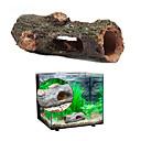 billiga Hundleksaker-Akvarium Akvariedekorationer Fiskskål Ornament Slangar & Tunnlar Brun Giftfri och smaklös Resin 1 st