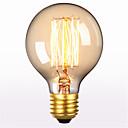ราคาถูก ไฟตัดหมอก-1pc 60 W E26 / E27 G80 ขาวนวล 2300 k เรทโทร / ตกแต่ง หลอดไฟ Vintage Edison รุ่น Exand 220-240 V