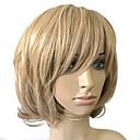 billiga USB-minnen-Syntetiska peruker Lockigt Lockigt Bob-frisyr Peruk Blond Guldblont Syntetiskt hår Dam Blond