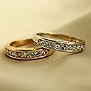 billiga Kragar, selar och koppel-Ring Kubisk Zirkoniumoxid Guld Silver Zircon Legering Bröllop Party Smycken Vänskap