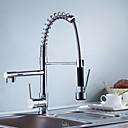 billige Kjøkkenkraner-Kjøkken Kran - To Håndtak et hull Krom Centersat Moderne Kitchen Taps