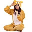 Χαμηλού Κόστους Ρούχα τρεξίματος-Ενηλίκων Πιτζάμα Kigurumi Αρκούδα Πιτζάμα Onesie Φλις Κίτρινο Cosplay Για Άνδρες και Γυναίκες ζώο Πυτζάμες Κινούμενα σχέδια Γιορτές / Διακοπές Κοστούμια / Φορμάκι / Ολόσωμη φόρμα
