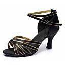 Χαμηλού Κόστους Παπούτσια χορού λάτιν-Γυναικεία Παπούτσια Χορού Σατέν Παπούτσια χορού λάτιν Αγκράφα Πέδιλα / Τακούνια Κουβανικό Τακούνι Εξατομικευμένο Μαύρο και Χρυσό / Μπλε / Κοκκινόμαυρο / Επίδοση