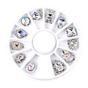 Χαμηλού Κόστους Διακόσμηση και φως νυκτός-1SET Κοσμήματα Νυχιών τέχνη νυχιών Μανικιούρ Πεντικιούρ Καθημερινά Glitters / Μεταλλικός / Μοντέρνα / Κοσμήματα νυχιών