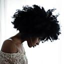 povoljno Perike s ljudskom kosom-Ljudska kosa Perika s prednjom čipkom bez ljepila Lace Front Perika stil afro Perika 130% Gustoća kose Prirodna linija za kosu Afro-američka perika 100% rađeno rukom Žene Kratko Srednja dužina Dug