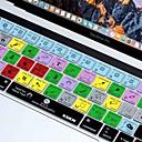 billiga Skyddsfilm till surfplattor-xskn® photoshop cc kort silikon tangentbord huden och pekfältet skydd för 2016 nya MacBook Pro 13,3 / 15,4 med touch bar näthinnan (USA /