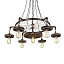 billige Blondeparykker med menneskehår-7-leder vintage treutstyr anheng lys kreative industrielle lampe stue restaurant barer klær butikk dekorasjon lys
