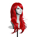 ราคาถูก วิกผมคอสตูม-วิกผมสังเคราะห์ วิกคอสตูม Wavy Wavy กับ Bangs ผมปลอม บลอนด์ ยาว บลอนด์ Blue Green Purple Red สังเคราะห์ สำหรับผู้หญิง แดง ฟ้า บลอนด์ hairjoy
