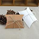 ราคาถูก การ์ดงานแต่ง-รอบ / Square กระดาษการ์ด Holder โปรดปราน กับ โบว์ / Printing กล่องของขวัญ - 50