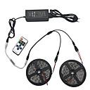 billige Signallys til bil-lys sett 10m 5050 smd 600 leds rgb ip44 11 nøkkel infrarød fjernkontroll 12v 6a strømkontakt