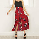 Χαμηλού Κόστους Μπικίνι & Μαγιό-Γυναικεία Κούνια / Τρομπέτα / Γοργόνα Κομψό στυλ street Αργίες / Εξόδου Φούστες - Φλοράλ Κίτρινο Κρασί M L XL