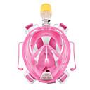ราคาถูก อุปกรณ์ดำน้ำ-หน้ากากดำน้ำ Full Face Masks หน้าต่างเดียว - การว่ายน้ำ ซิลิโคน - สำหรับ ผู้ใหญ่ สีดำ / การรั่วไหลของหลักฐาน / ป้องกันหมอกควัน / Dry Top