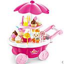 billiga Pengar och bank-Ice Cream Cart Toy Leksaksmat Låtsaslek Mat & Dryck Glass Efterrätt Barnsäkert Barn Småbarn Flickor Leksaker Present 39 pcs