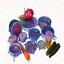 billige Fiskesluker & fluer-6pcs / sett lokket universal silikon Saran mat potten strekning silikon deksel pan kjøkken vakuum lokk sealer tilfeldig farge