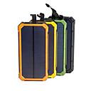 olcso Teljesítmény bankok-napenergia bank vízálló 16000mah napelemes töltő kettős usb port külső töltő powerbank okostelefon led fény