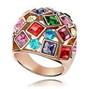 billige Vintage Ring-Dame Statement Ring Kubisk Zirkonium Gylden Zirkonium Legering damer Mote Fargerik Bryllup Fest Smykker