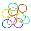 billiga Lys upp leksaker-100pcs glöd lysstavar parti färgad Glowstick fluorescensringar