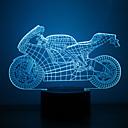 Χαμηλού Κόστους Φωτιστικά Καθρέφτη-1 τμχ 3D Nightlight USB Αδιάβροχη / Αισθητήρας / Με ροοστάτη LED / Σύγχρονη Σύγχρονη