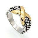ราคาถูก สร้อยข้อมือ-สำหรับผู้ชาย สำหรับผู้หญิง แหวน สีทอง Titanium Steel Geometric Shape ส่วนบุคคล รูปเลขาคณิต วินเทจ ปาร์ตี้ โอกาสพิเศษ เครื่องประดับ