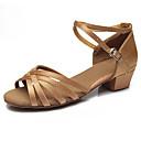ราคาถูก รองเท้าแบบลาติน-สำหรับผู้หญิง รองเท้าเต้นรำ ซาติน ลาติน หัวเข็มขัด รองเท้าแตะ ส้นต่ำ ตัดเฉพาะได้ อูฐ / เสือดาว / น้ำตาลเข้ม / Performance / EU39