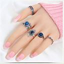 Χαμηλού Κόστους Μοδάτο Δαχτυλίδι-Γυναικεία Σετ Κοσμημάτων Σετ δαχτυλιδιών Pinky Ring 5pcs Χρυσό Ασημί Συνθετικοί πολύτιμοι λίθοι Ρητίνη Επιχρυσωμένο Circle Shape κυρίες Unusual Μοναδικό Γάμου Πάρτι Κοσμήματα / Κράμα