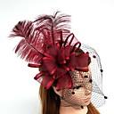 Χαμηλού Κόστους Καπέλα και Διακοσμητικά-Τούλι / Φτερό / Δίχτυ Γοητευτικά / Καπέλα / Βιτρίνα Πτηνών με 1 Γάμου / Ειδική Περίσταση Headpiece