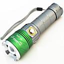 billiga Frukt och grönsakstillbehör-Ultravioletta ficklampor Vattentät Uppladdningsbar 500 lm LED LED 2 utsläpps 4.0 Belysning läge med batteri och laddare Vattentät Zoombar Uppladdningsbar Justerbar fokus Förfalskade Detektor Camping