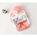baratos Roupas para Cães-Cachorro Colete Roupas para Cães Desenho Animado Laranja Rosa claro Algodão Ocasiões Especiais Para Primavera & Outono Homens Casual