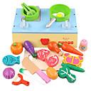 ราคาถูก ของเล่นแต่งตัวตุ๊กตา และของเล่นเสริมสร้างพัฒนาการ-ชุดครัวของเล่น อาหารของเล่น ผัก Magnetic พลาสติก สำหรับเด็ก เด็กผู้หญิง Toy ของขวัญ 22 pcs