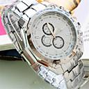 ราคาถูก สร้อยคอโช๊คเกอร์-สำหรับผู้ชาย นาฬิกาแฟชั่น นาฬิกาอิเล็กทรอนิกส์ (Quartz) สแตนเลส วงดนตรี ลำลอง เงิน เขียว