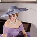 billiga Partyhatt-Lin / Fjäder / Sammet Kentucky Derby Hat / fascinators / hattar med 1 Bröllop / Speciellt Tillfälle / Utomhus Hårbonad