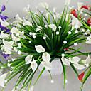 billige Kunsthåndverk-1bunch kunstig mini lily silke blomst simulering calla blomst bukett falsk gress vannplanter for nytt hjem rom dekorasjon vaskbar