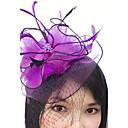 povoljno Stole za vjenčanje-Perje / Net Fascinators / Šeširi / Vjeverica kose s Cvjetni print 1pc Vjenčanje / Special Occasion Glava