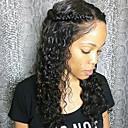 povoljno Perike s ljudskom kosom-Remy kosa Perika s prednjom čipkom bez ljepila Lace Front Perika stil Brazilska kosa Water Wave Perika 130% Gustoća kose 8-24 inch s dječjom kosom Prirodna linija za kosu Afro-američka perika 100