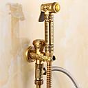 olcso Bidé csaptelepek-Fürdőszoba mosogató csaptelep - Kézi zuhanyzót tartalmaz Antik bronz Csak zuhany Egy fogantyú egy lyukkalBath Taps