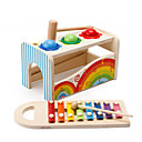 baratos Câmeras para Circuito Fechado-Hammering / Pounding Toy Blocos de Construir Brinquedo Para Bebê Brinquedos Quadrada Brinquedos Educação De madeira Crianças Peças