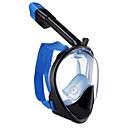 billiga Dykmasker, snorklar och simfötter-Dykmasker Heltäckande ansiktsmasker enda fönster - Simmning Silikon - Till Vuxen Svart / 180° / Läckagesäker / Anti-Dimma