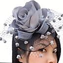 ราคาถูก เครื่องประดับผมสำหรับงานปาร์ตี้-สุทธิ / ซาติน fascinators / ดอกไม้ / วิถี Birdcage กับ 1 งานแต่งงาน / โอกาสพิเศษ / ที่มา หูฟัง