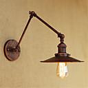 billige Frittstående vask-Rustikk / Hytte / Land / Retro Rød Swing Arm Lights Metall Vegglampe 110-120V / 220-240V 40W