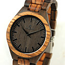 billiga Mekaniska klockor-Herr Armbandsur Klocka Trä Japanska Quartz Japansk kvartsur Trä Beige Häftig trä Ramtyp