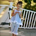 povoljno Male štikle za djevojčice-Dijete koje je tek prohodalo Djevojčice Točkica Mašna Dnevno Izlasci Plaža Jednobojni Na točkice Bez rukávů Regularna Normalne dužine Pamuk Komplet odjeće Blushing Pink
